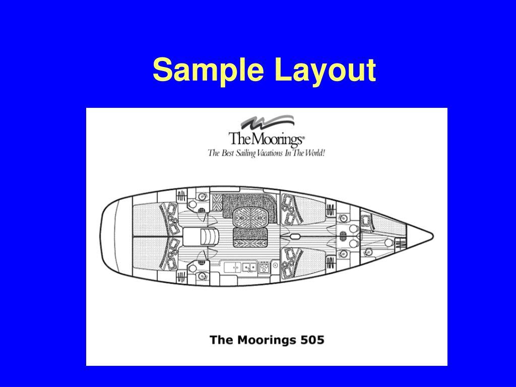 Sample Layout