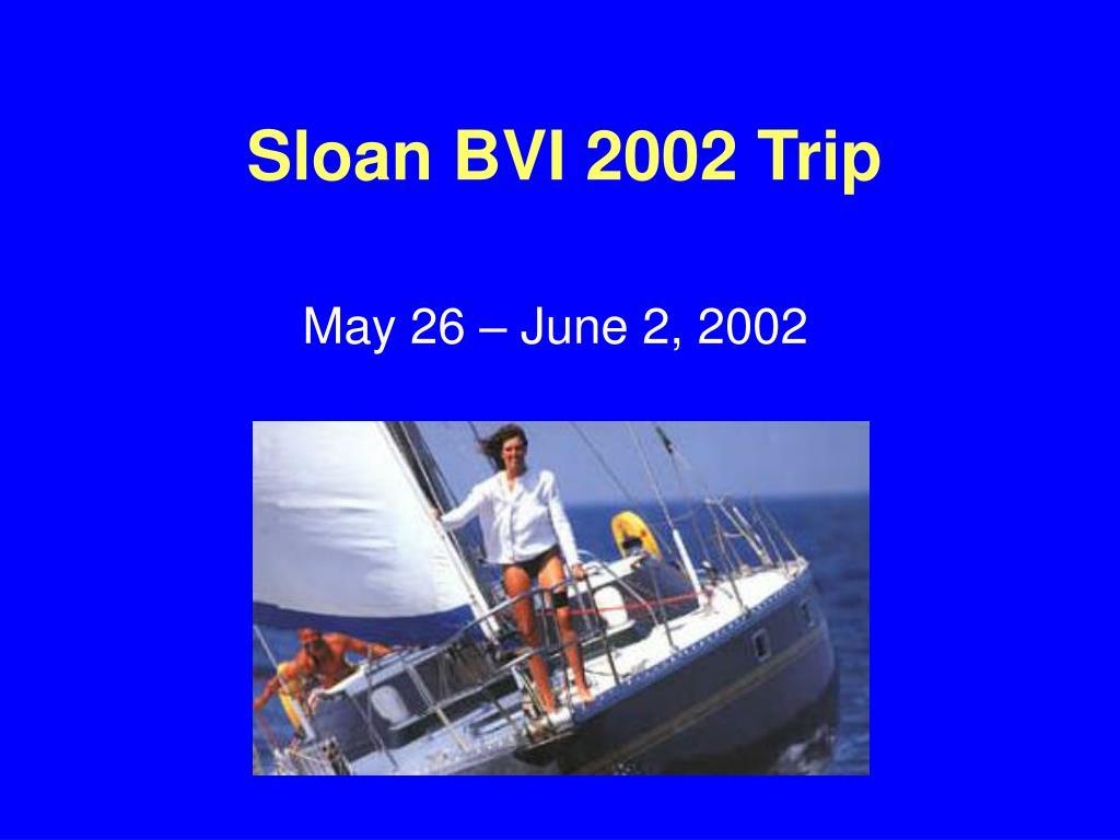 Sloan BVI 2002 Trip