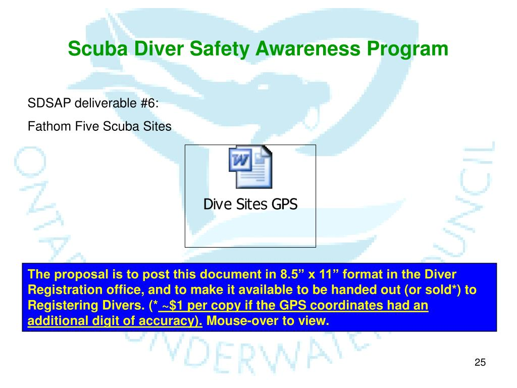 Scuba Diver Safety Awareness Program