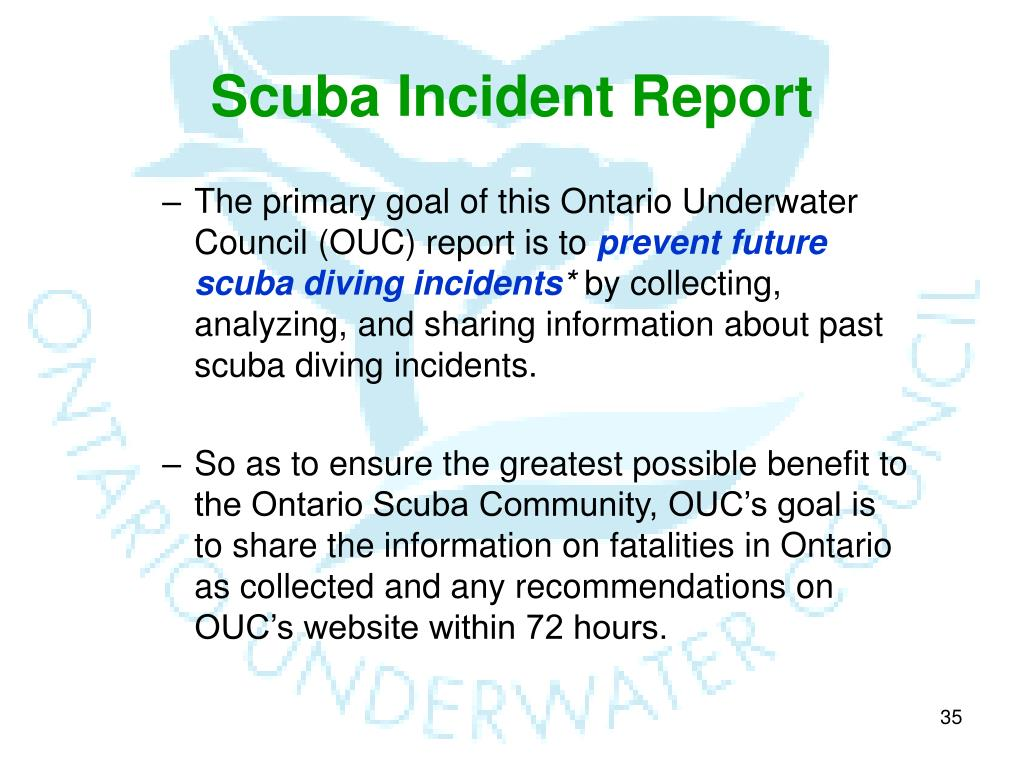 Scuba Incident Report