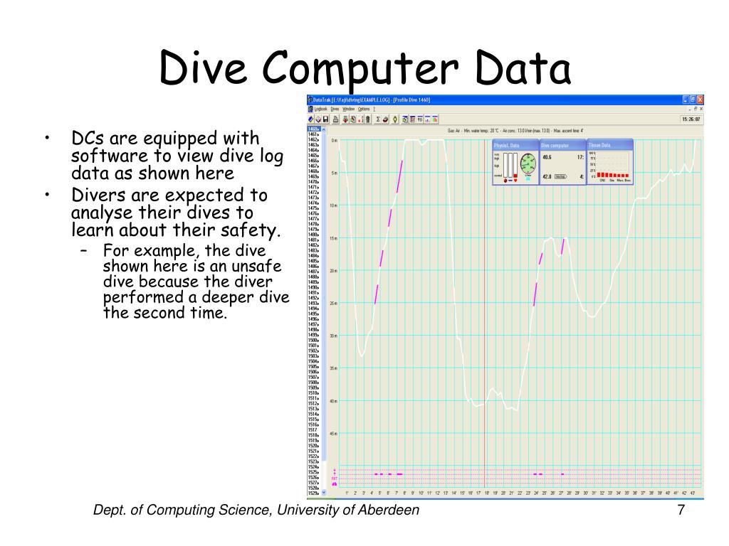 Dive Computer Data