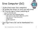 dive computer dc