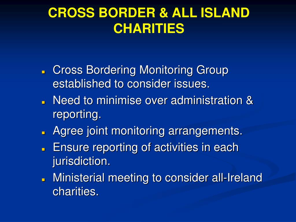 CROSS BORDER & ALL ISLAND CHARITIES