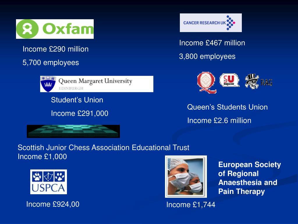 Income £467 million