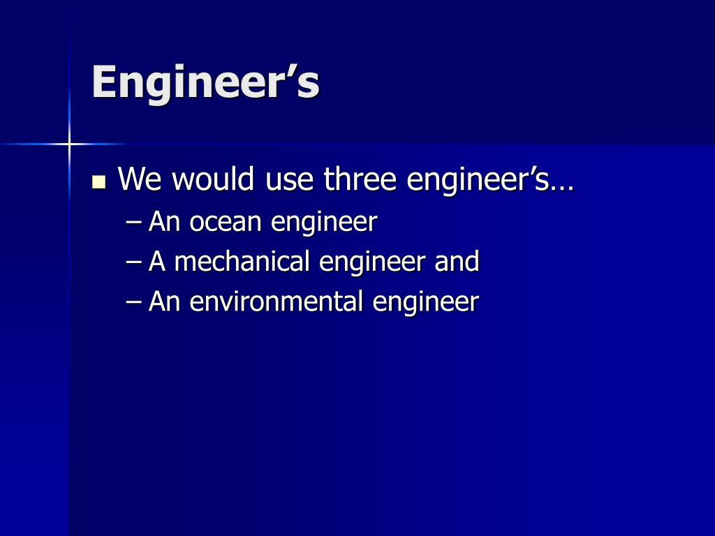 Engineer's