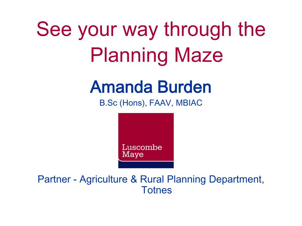 See your way through the Planning Maze
