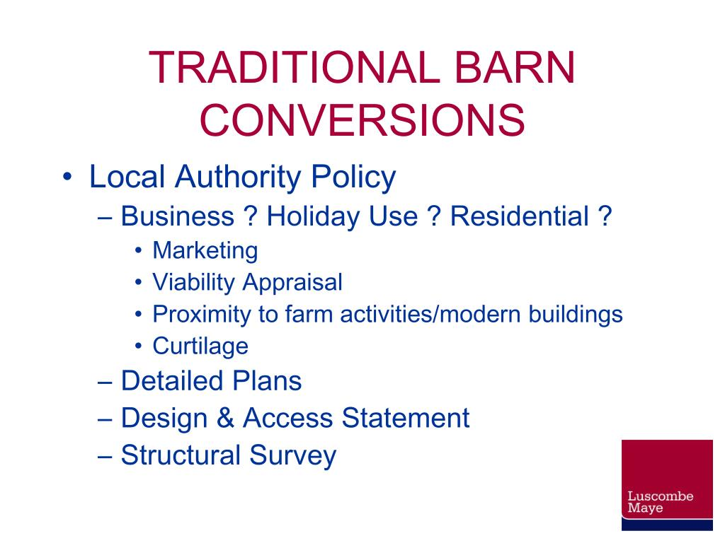 TRADITIONAL BARN CONVERSIONS