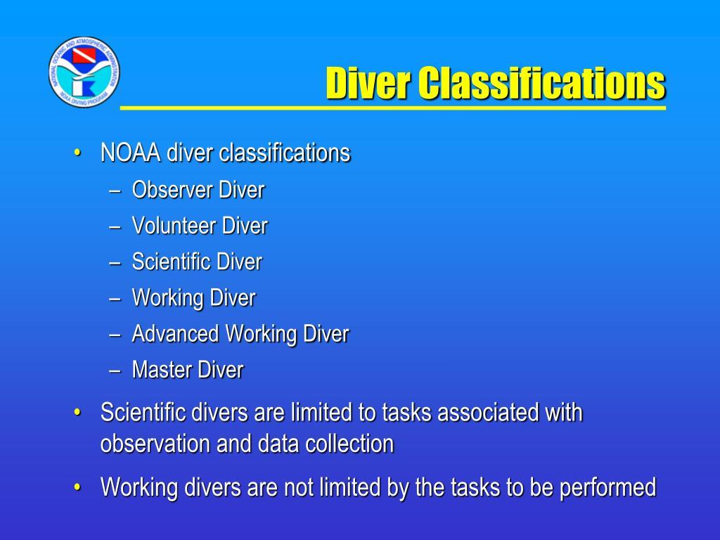 Diver Classifications