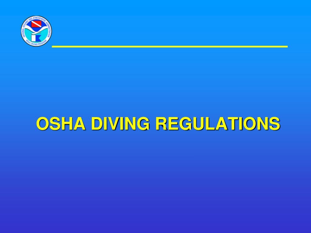 OSHA DIVING REGULATIONS