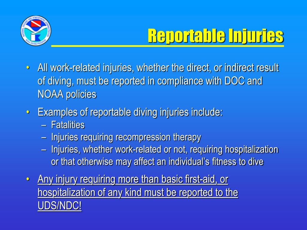 Reportable Injuries