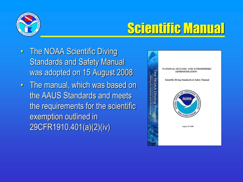 Scientific Manual