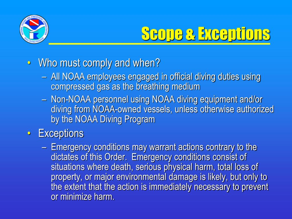 Scope & Exceptions