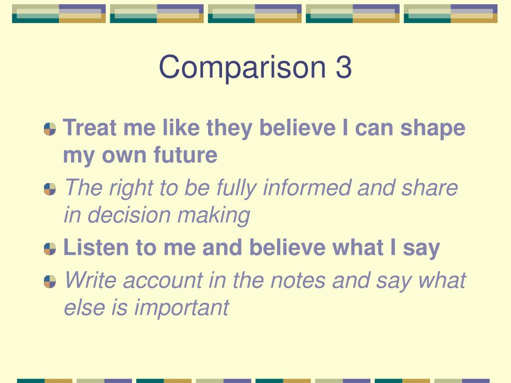 Comparison 3