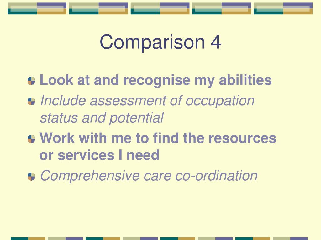 Comparison 4