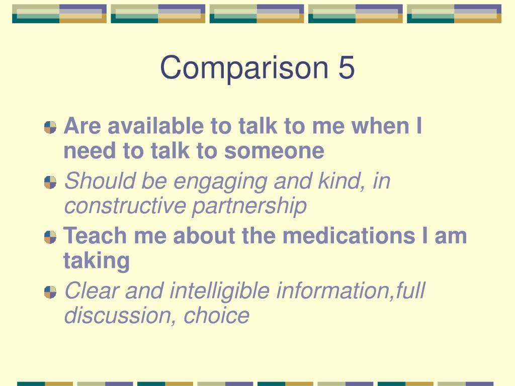 Comparison 5