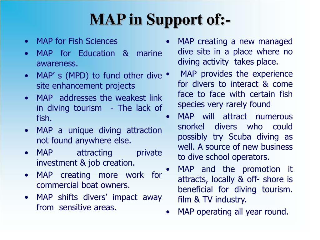 MAP for Fish Sciences