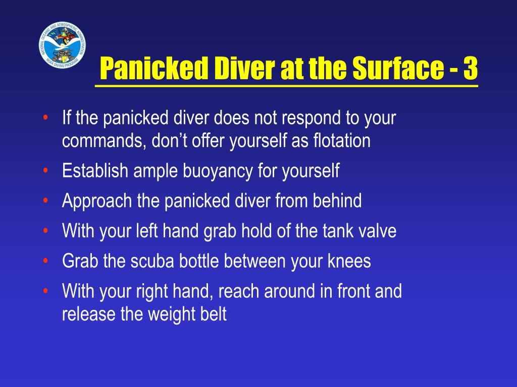 Panicked Diver at the Surface - 3