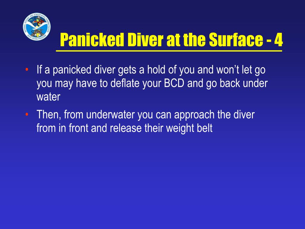 Panicked Diver at the Surface - 4