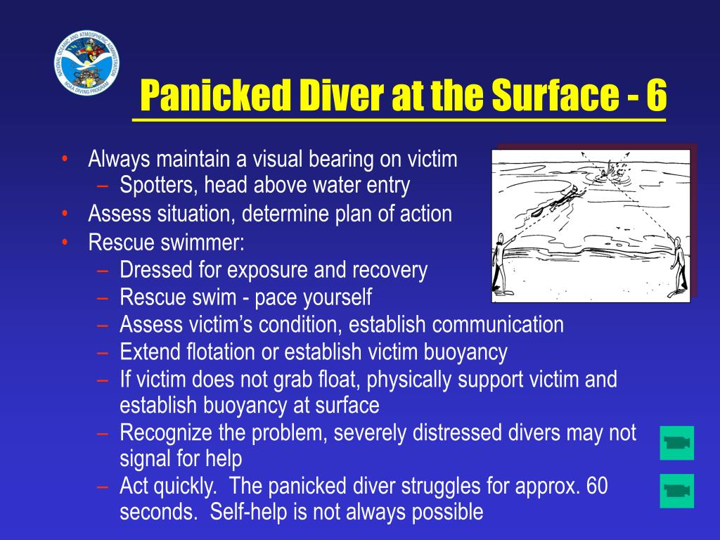 Panicked Diver at the Surface - 6
