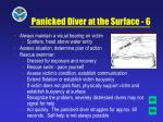panicked diver at the surface 6