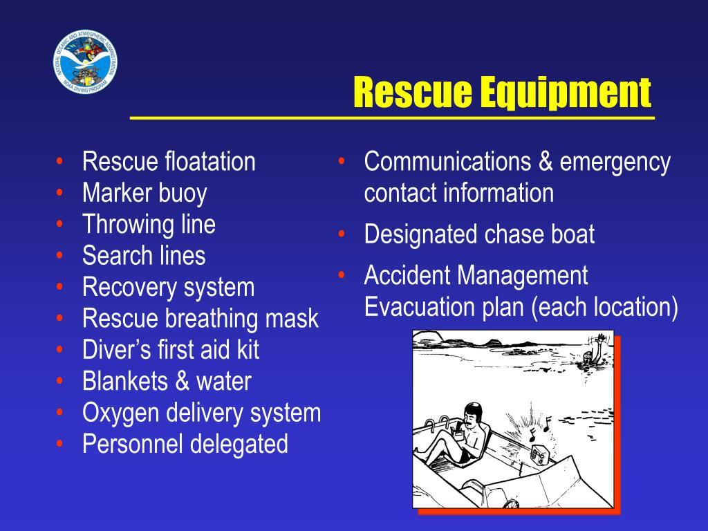 Rescue floatation