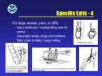 specific exits 4