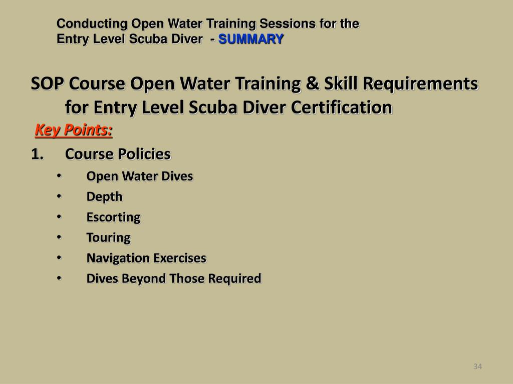 Conducting Open Water Training Sessions for the