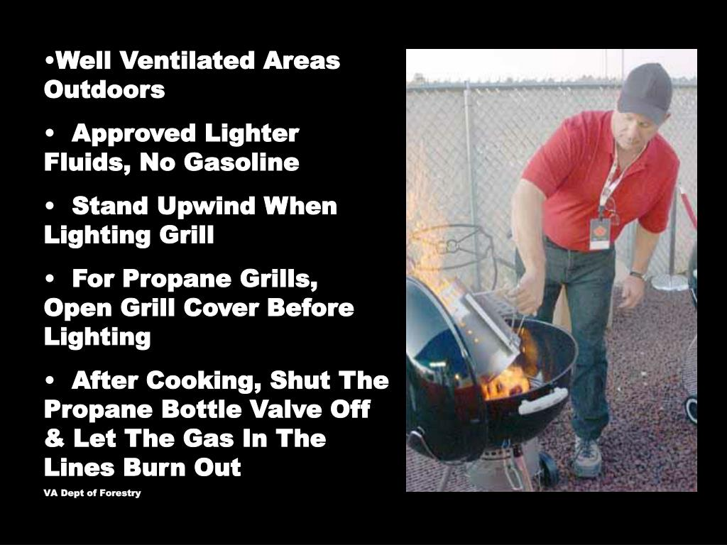 Well Ventilated Areas Outdoors