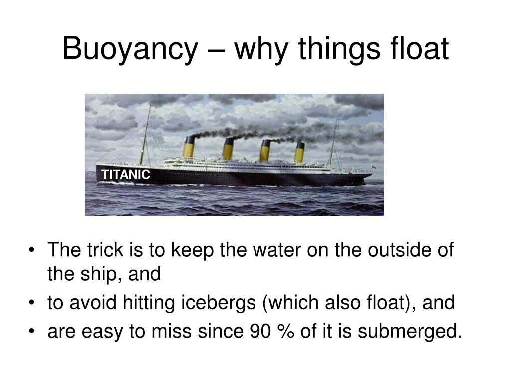 Buoyancy – why things float