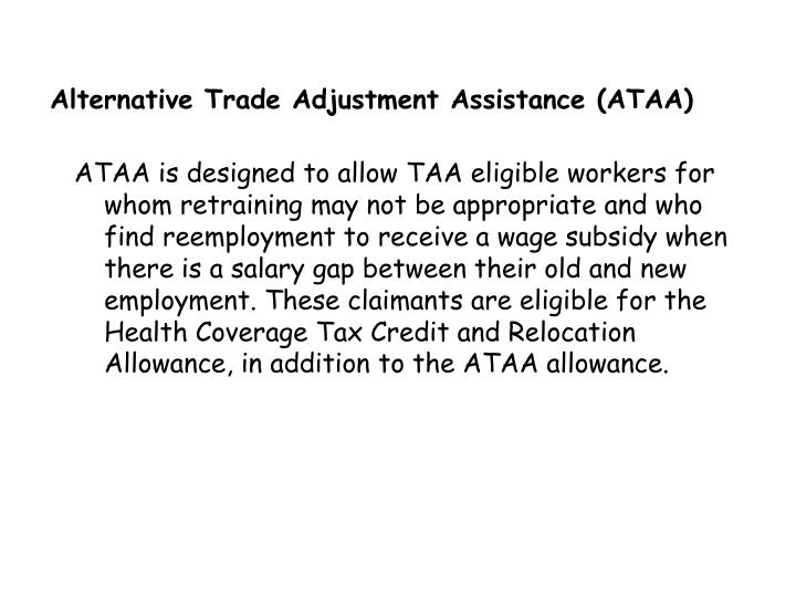 Alternative Trade Adjustment Assistance (ATAA)