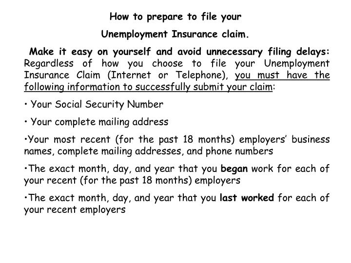 How to prepare to file your