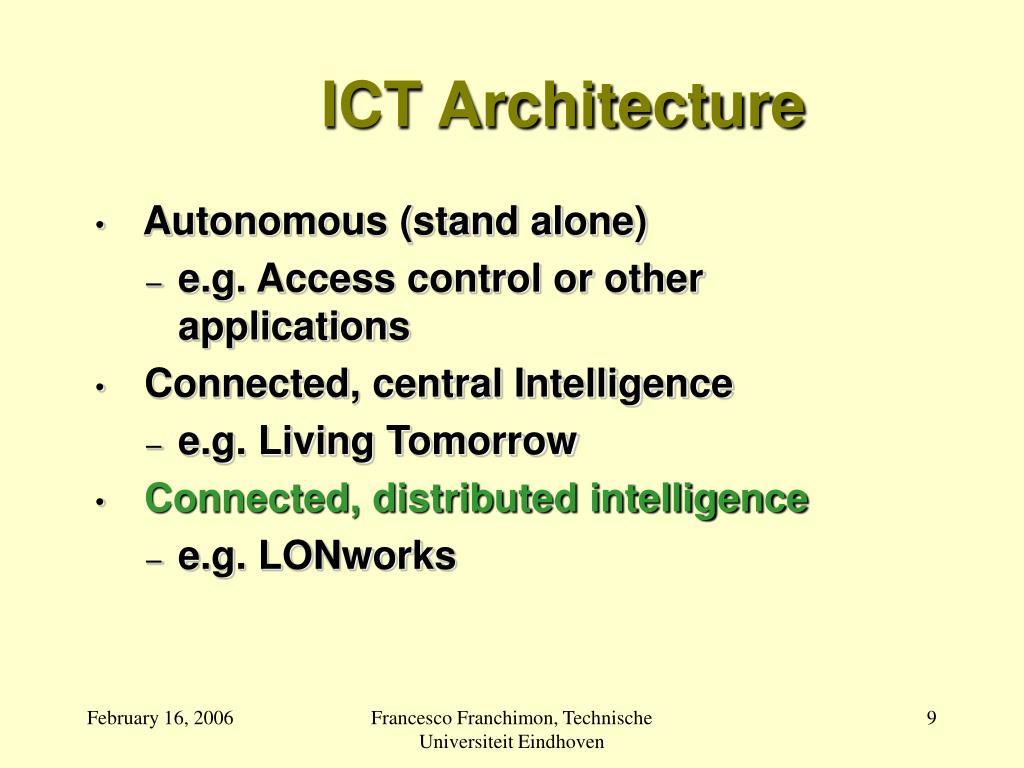 ICT Architecture