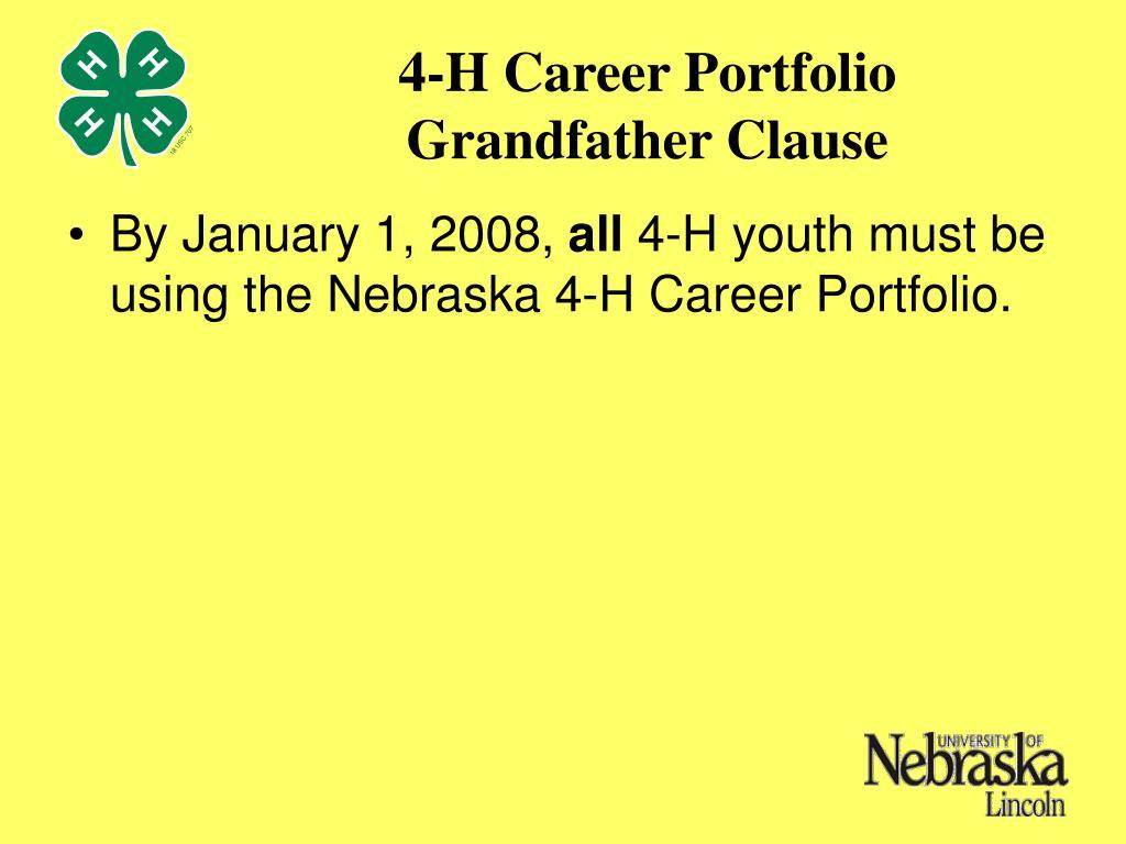 4-H Career Portfolio