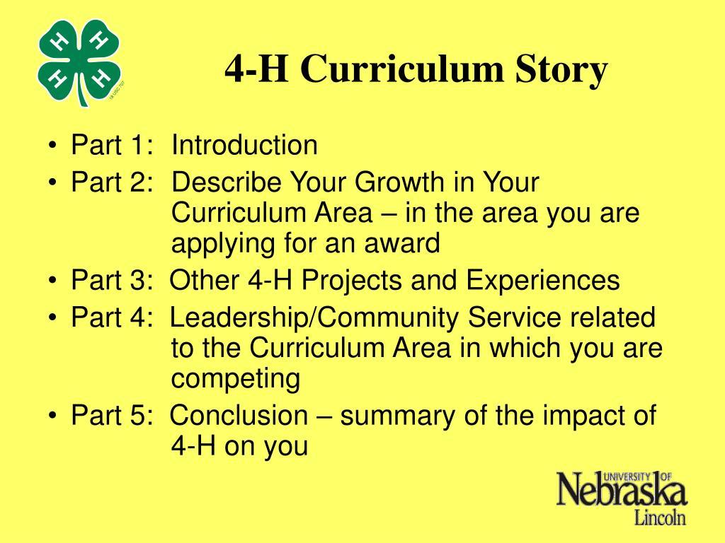 4-H Curriculum Story