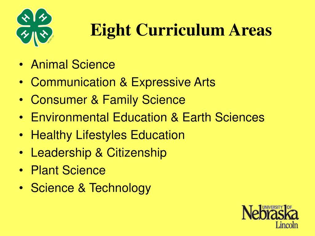 Eight Curriculum Areas