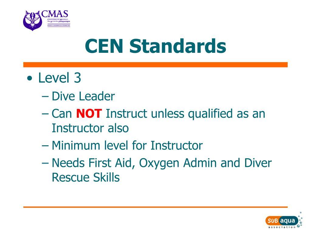 CEN Standards
