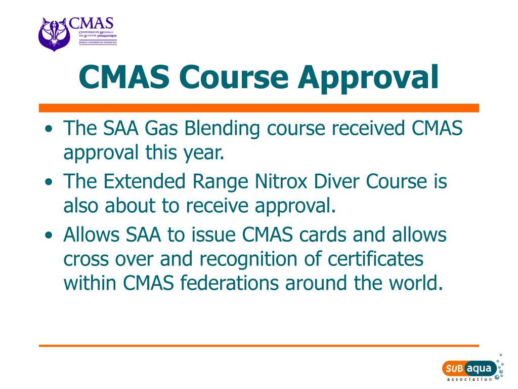 CMAS Course Approval