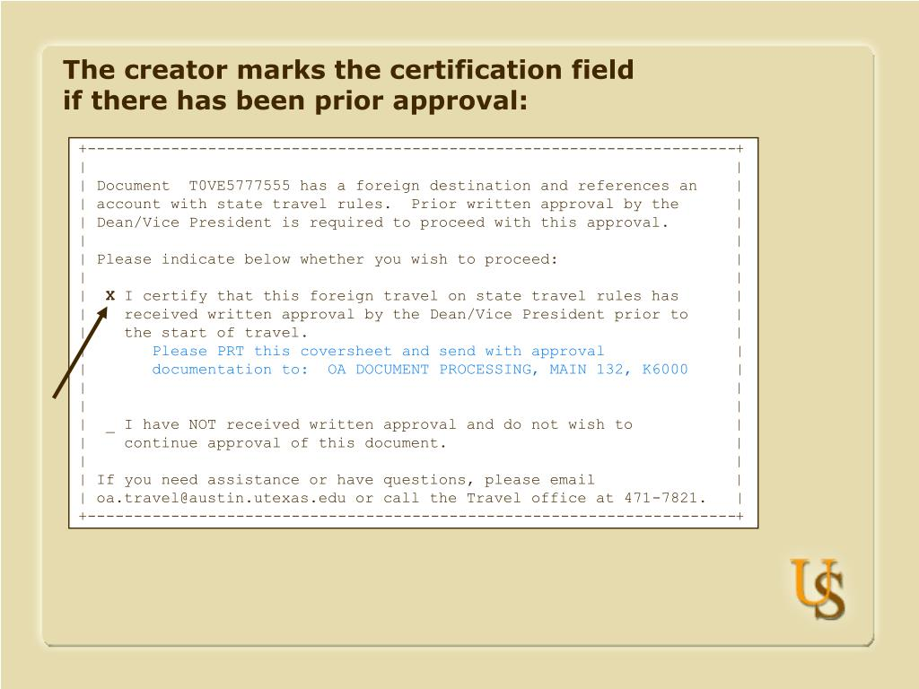 The creator marks the certification field