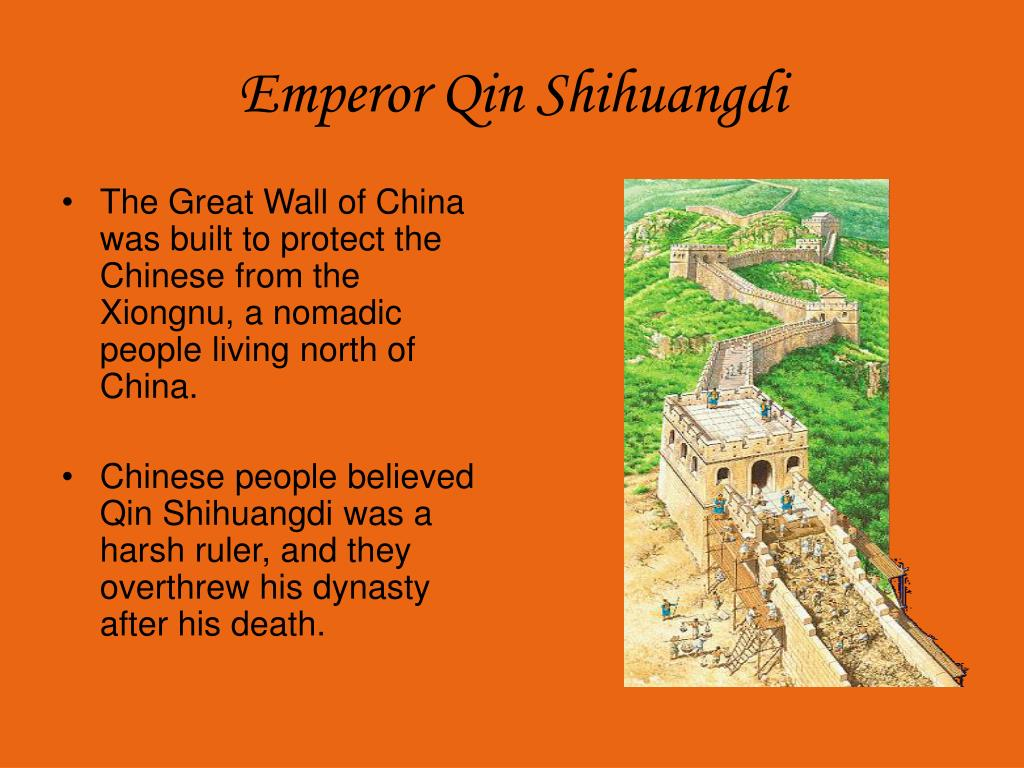 The Great Wall of China was built to protect the Chinese from the Xiongnu, a nomadic people living north of China.