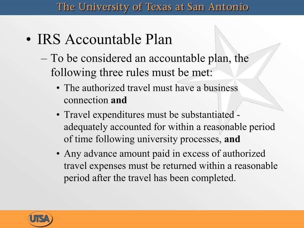 IRS Accountable Plan