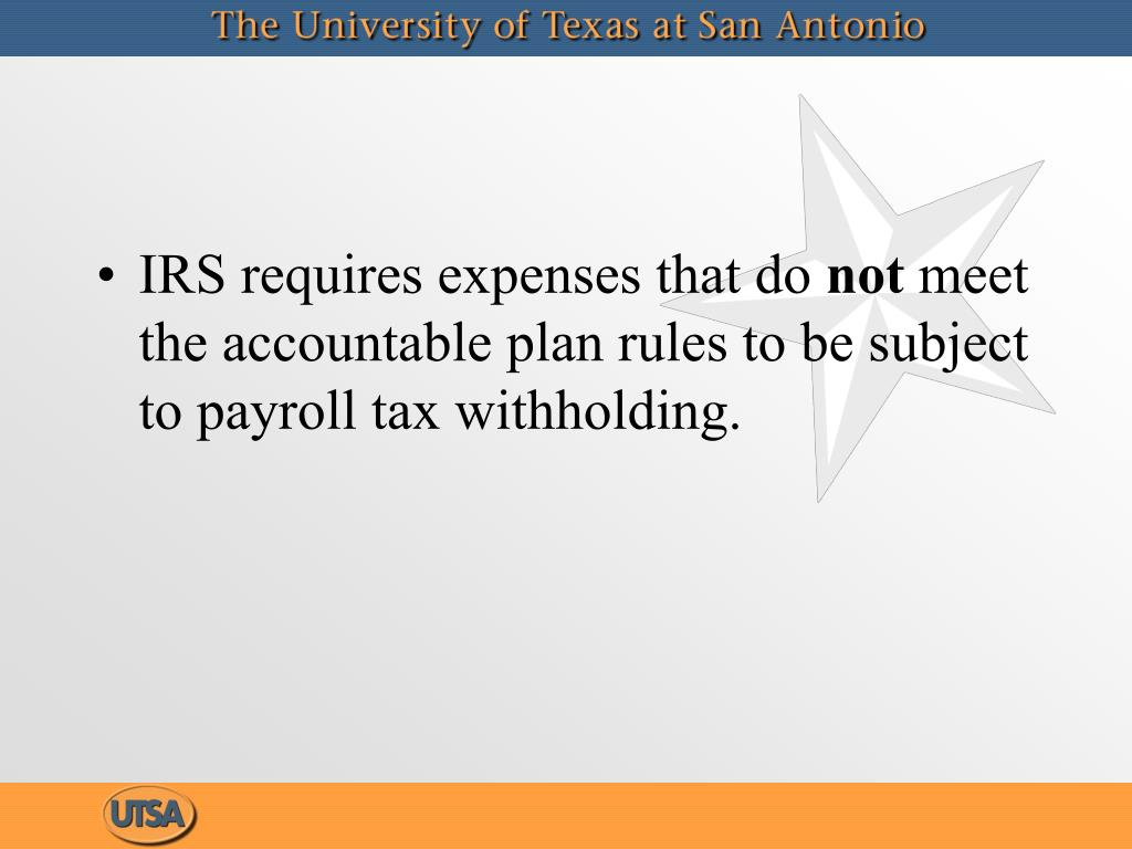 IRS requires expenses that do