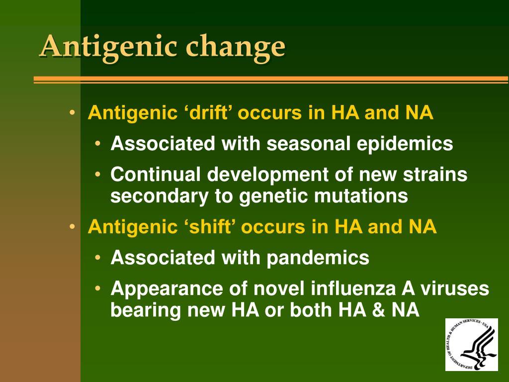 Antigenic change