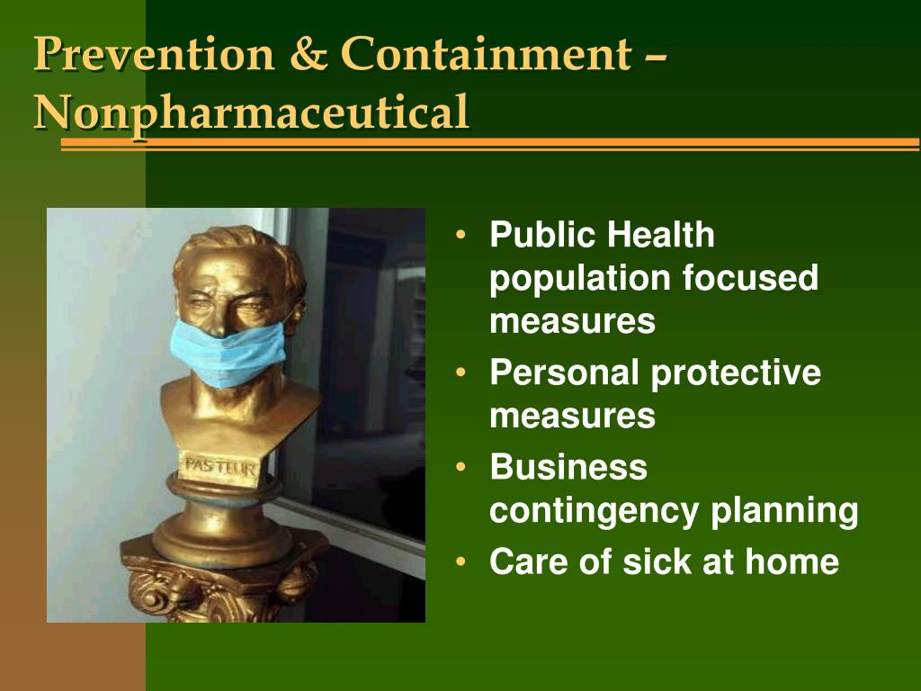 Prevention & Containment – Nonpharmaceutical
