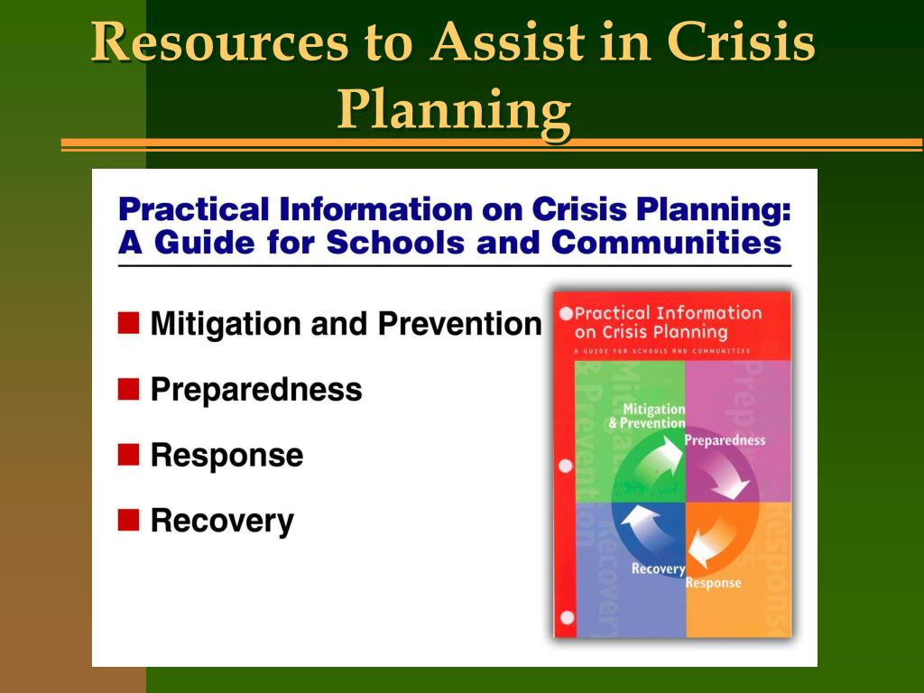 Resources to Assist in Crisis Planning