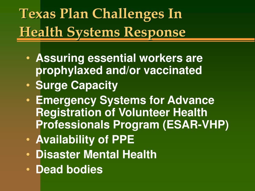 Texas Plan Challenges In