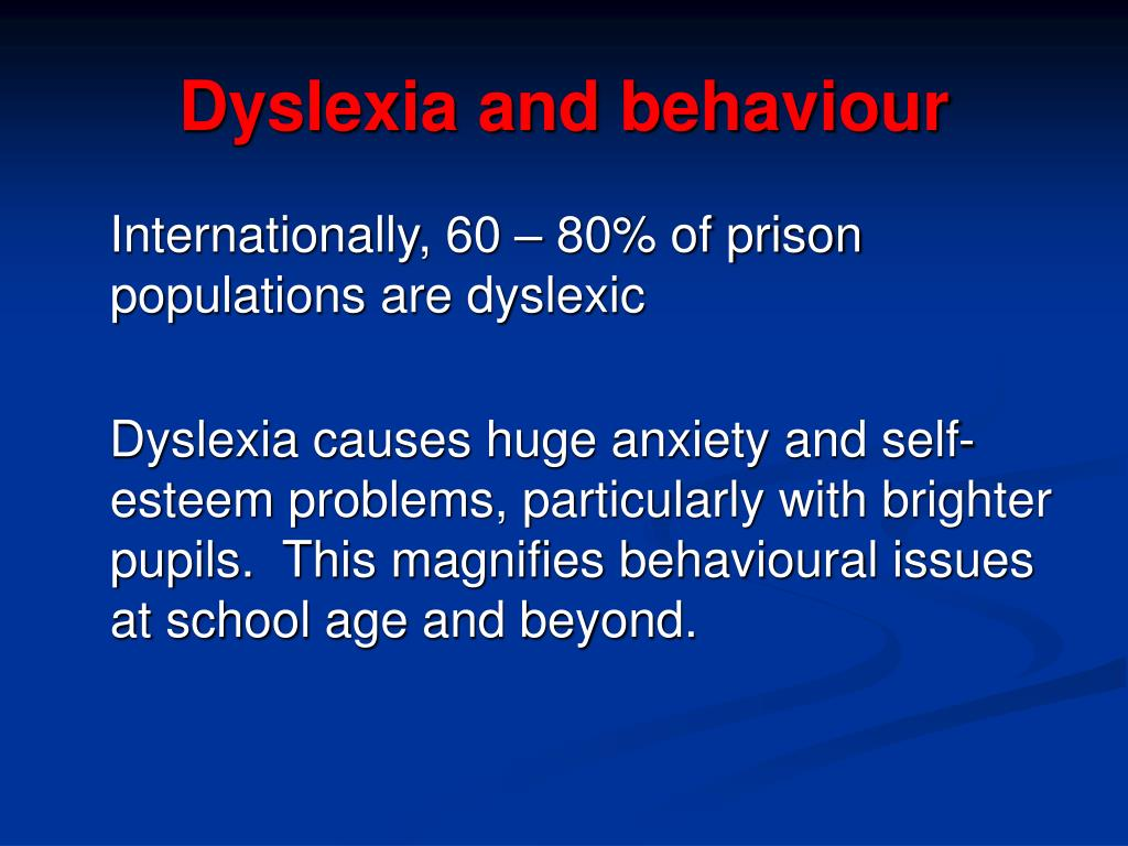 about dyslexia essay Learn how to better understand your child's writing issues read about the difference between dysgraphia, dyspraxia, and dyslexia.
