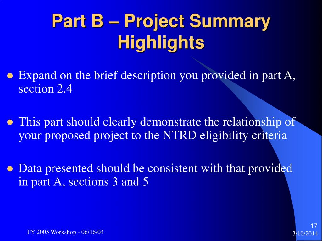 Expand on the brief description you provided in part A, section 2.4