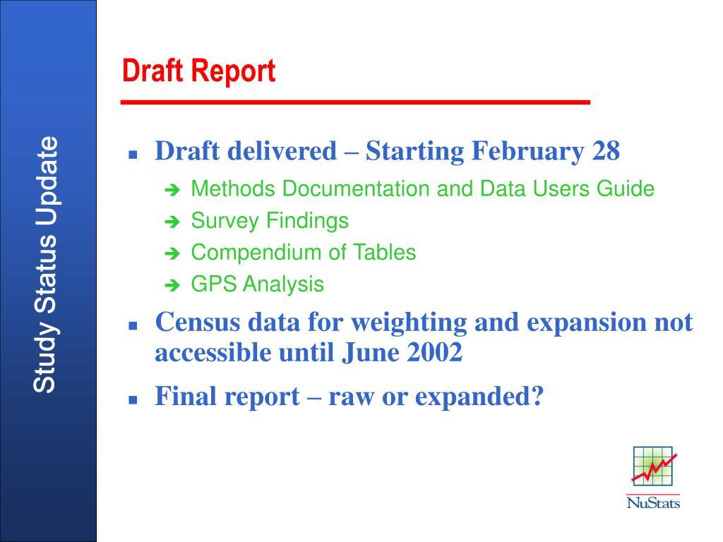 Draft Report