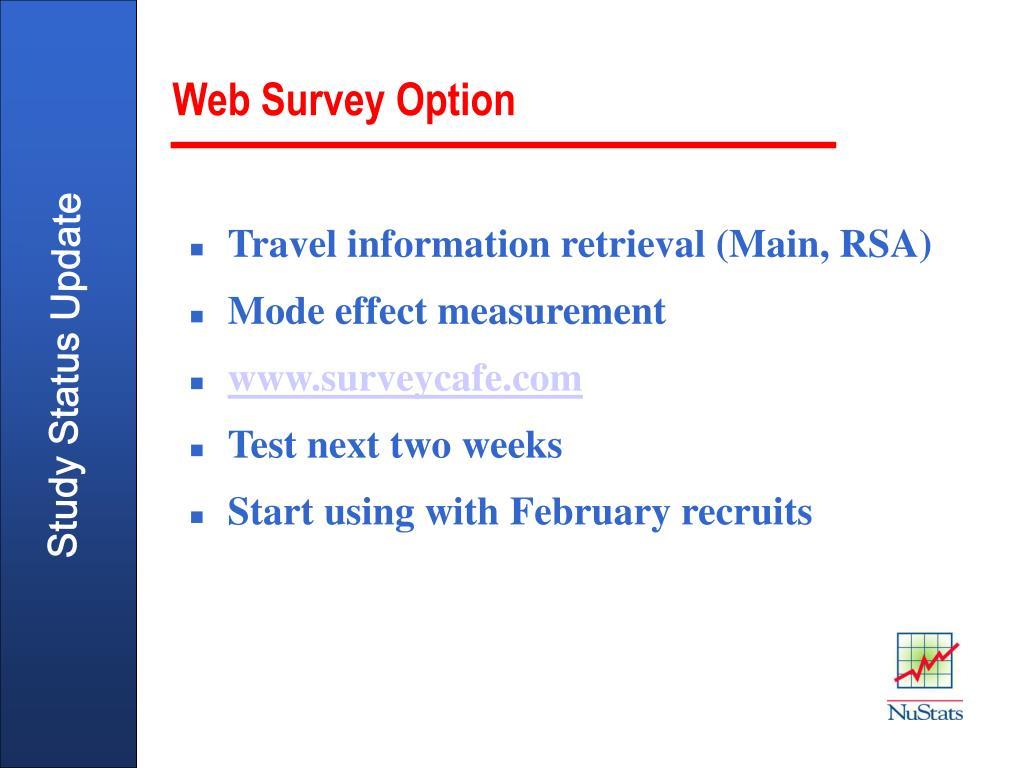 Web Survey Option