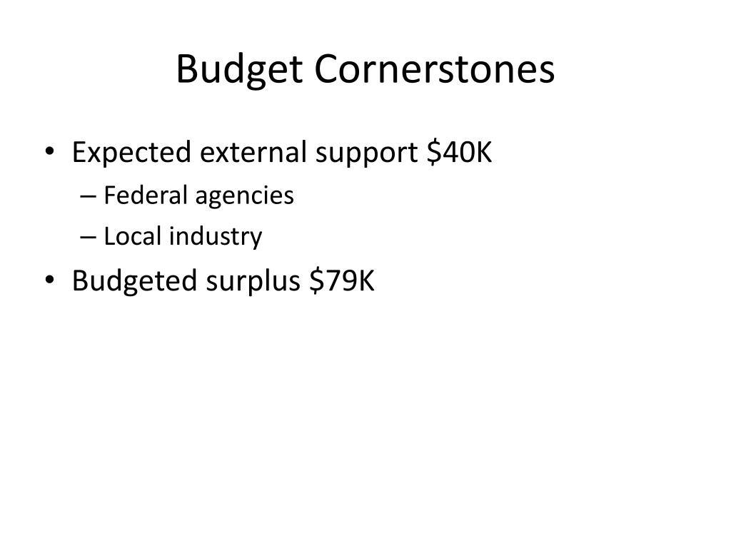 Budget Cornerstones